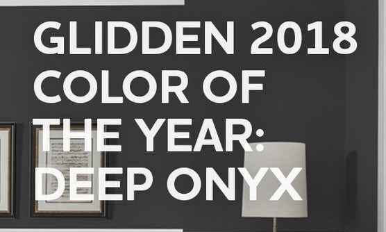 2018 Color of the Year, Deep Onyx via Glidden