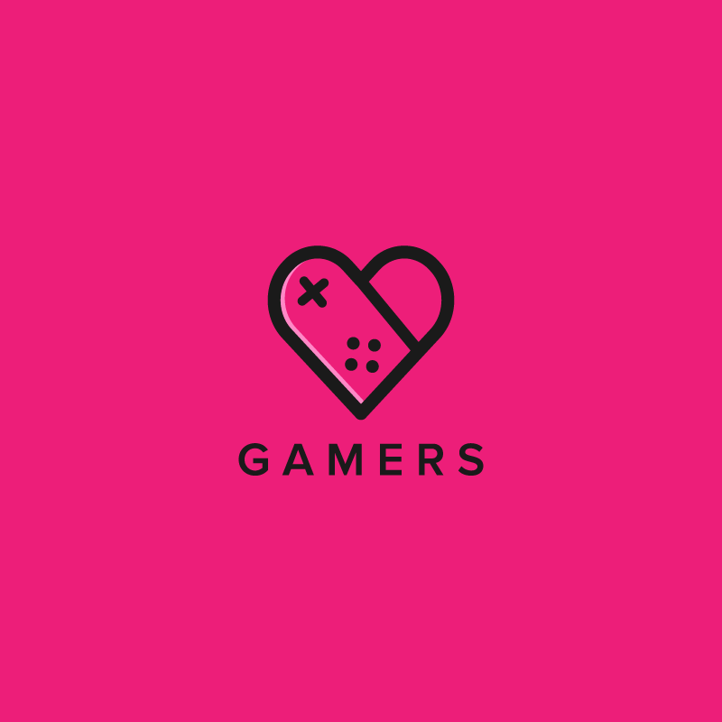 Logo design for gamer dating app