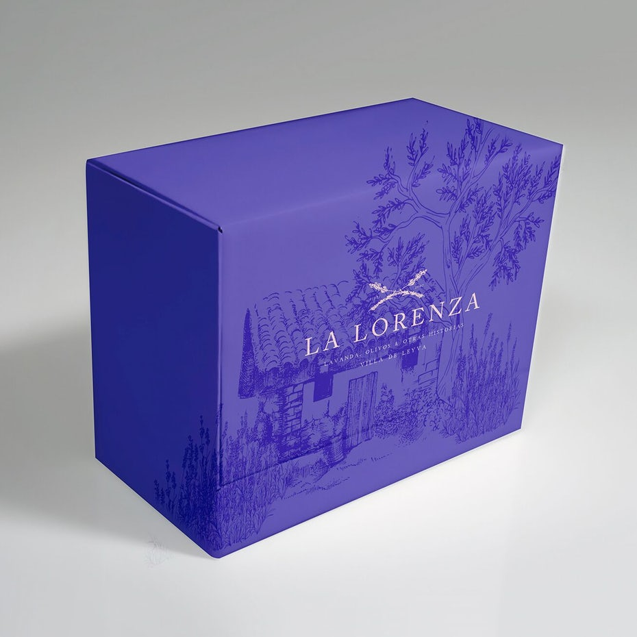 Packaging design for La Lorenza