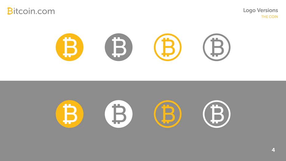 Bitcoin logo variations