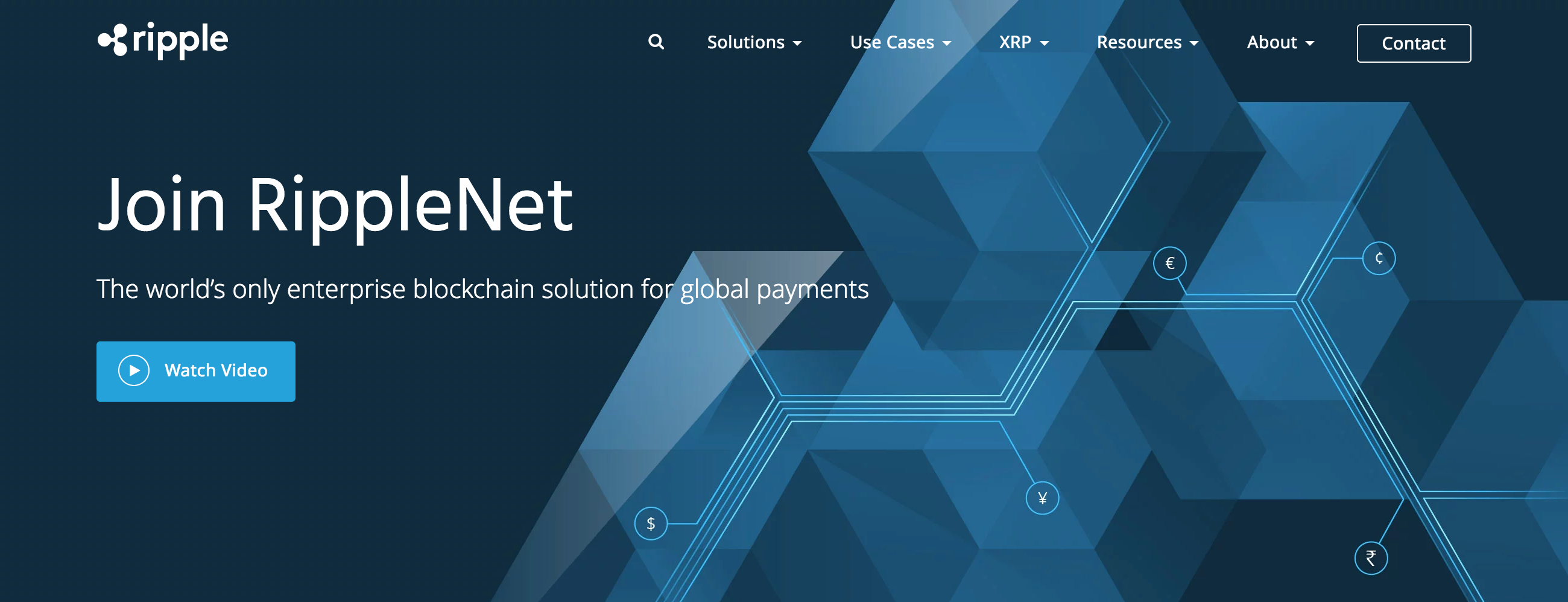 Screenshot from Ripple website