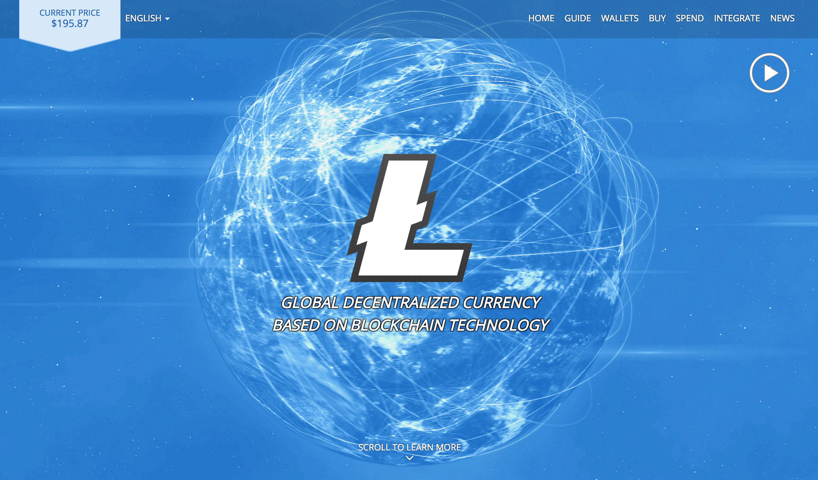 Screenshot from the Litecoin website.