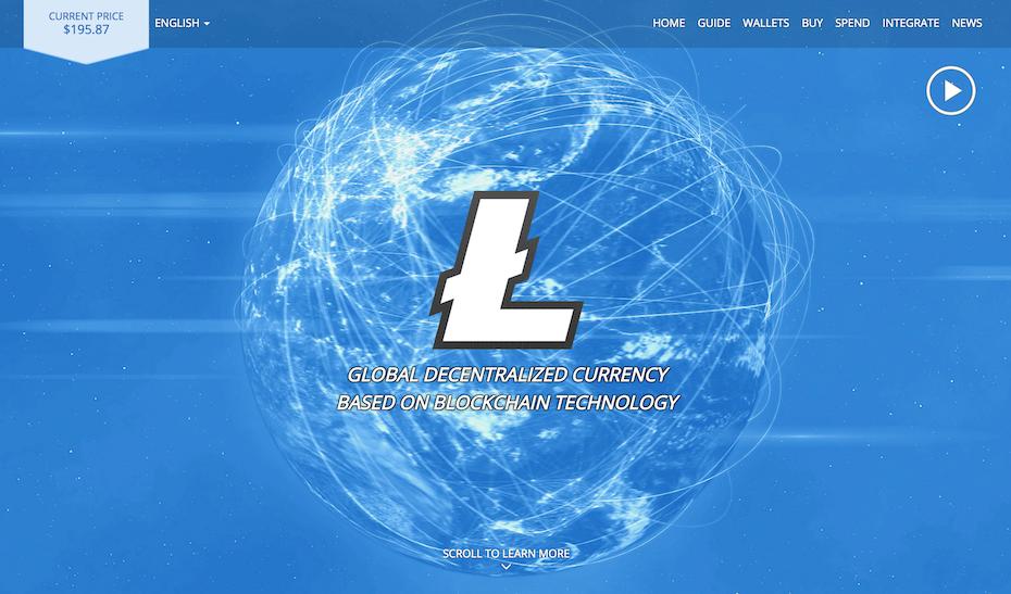 Screenshot from the Litecoin website.