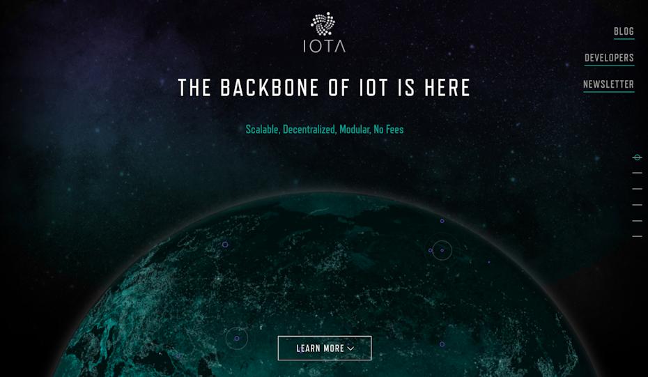 Screenshot from the IOTA website.