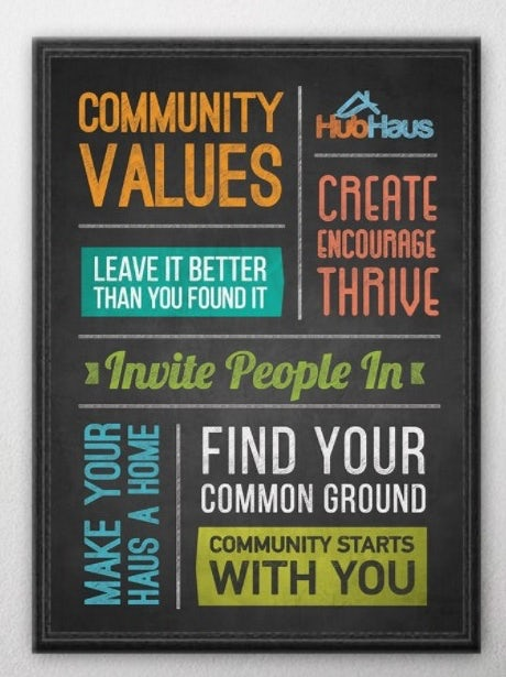HubHaus values poster mockup