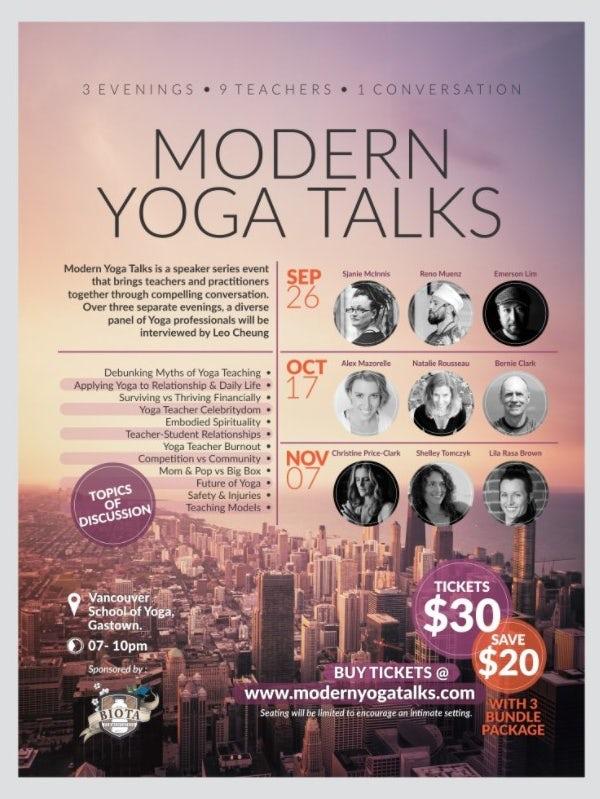 Yoga Talks poster mockup