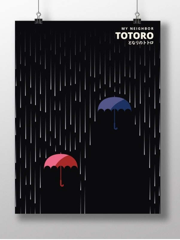 My Neighbor Totoro poster mockup
