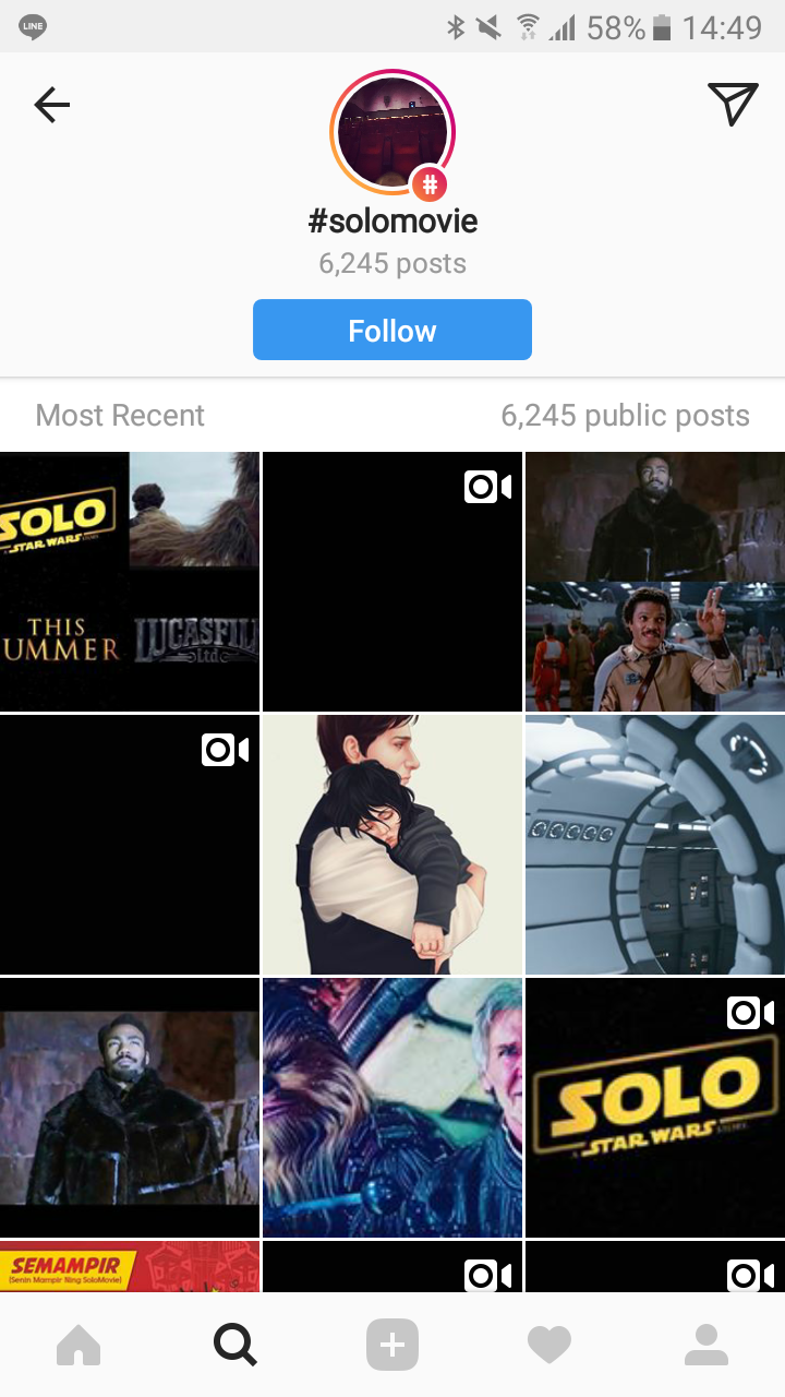 Instagram feed for #solomovie
