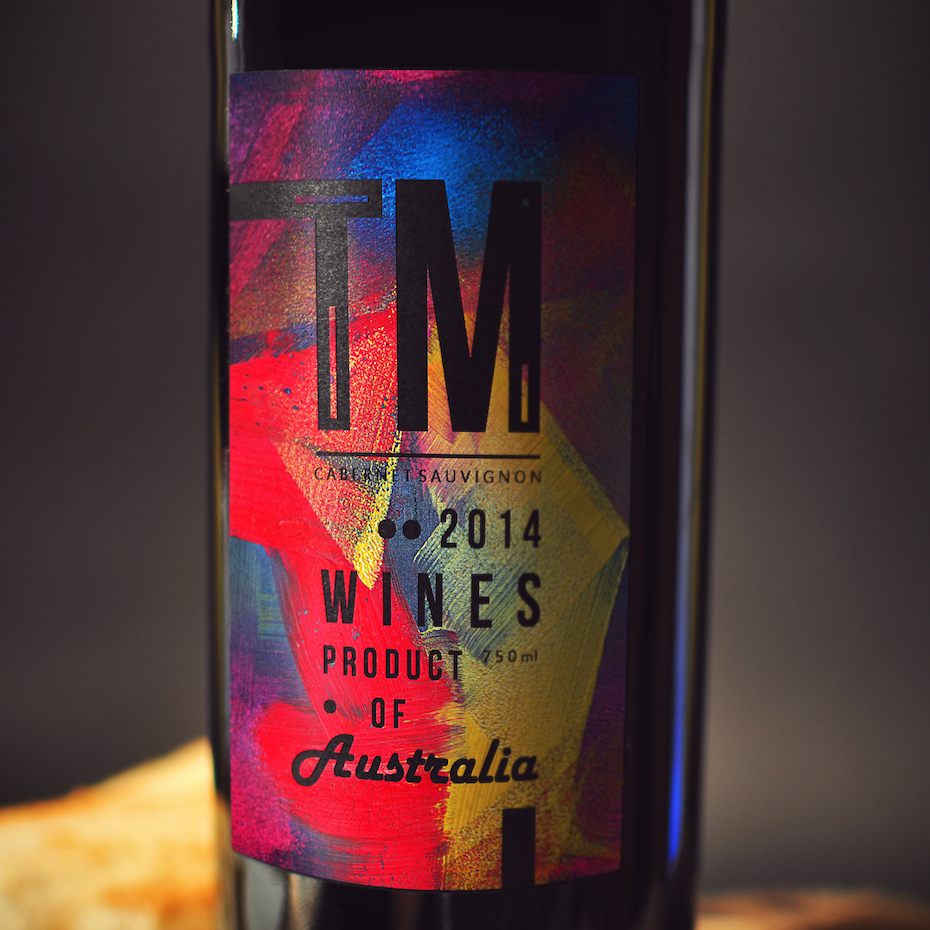 Bold label design for ™ Wines