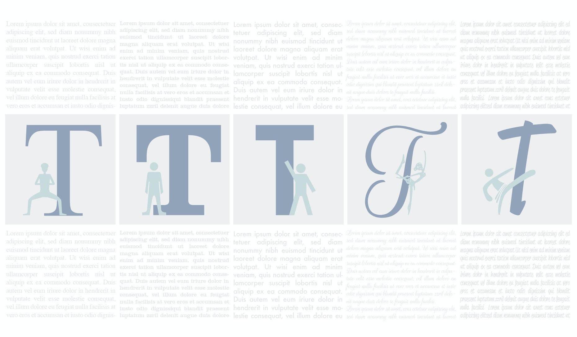 the different types of fonts