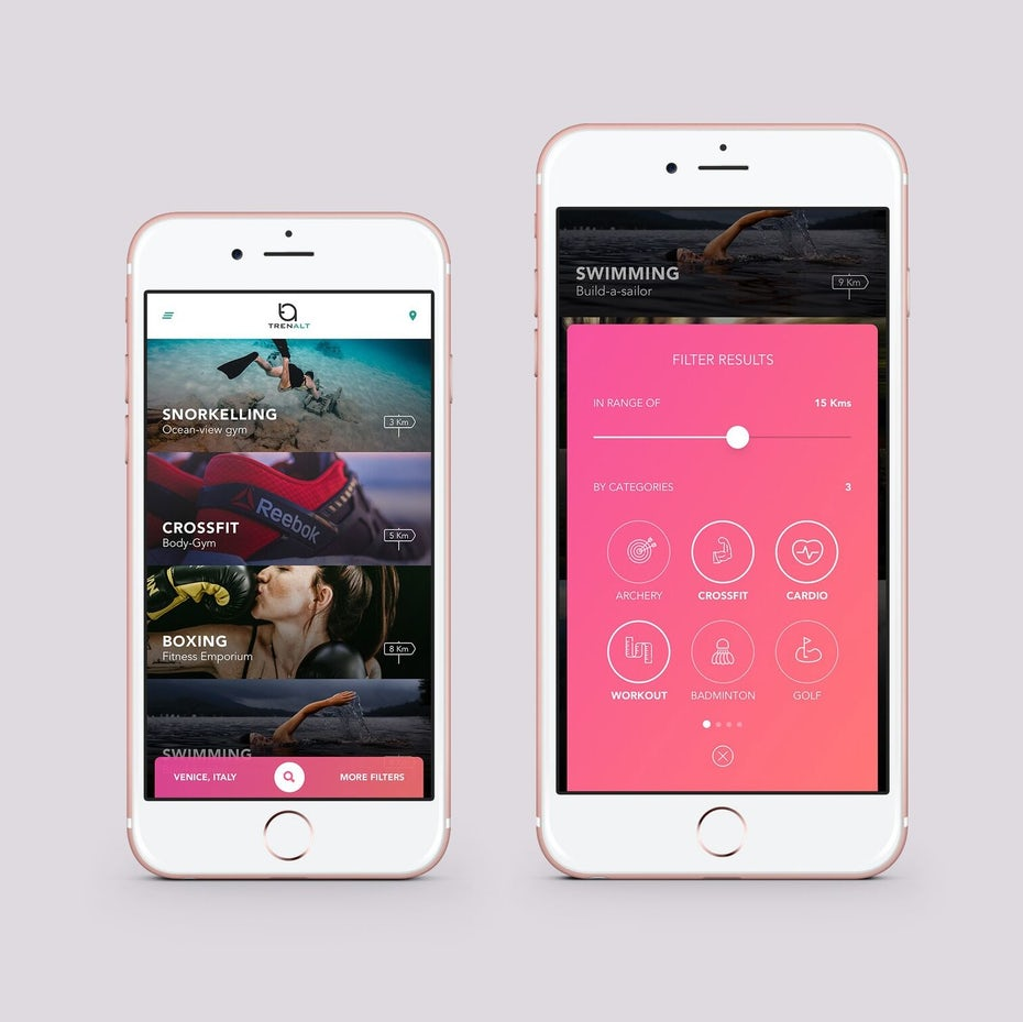 TrenAlt app UI design