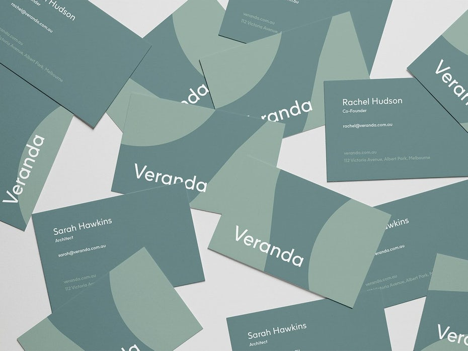 Business card design for Veranda
