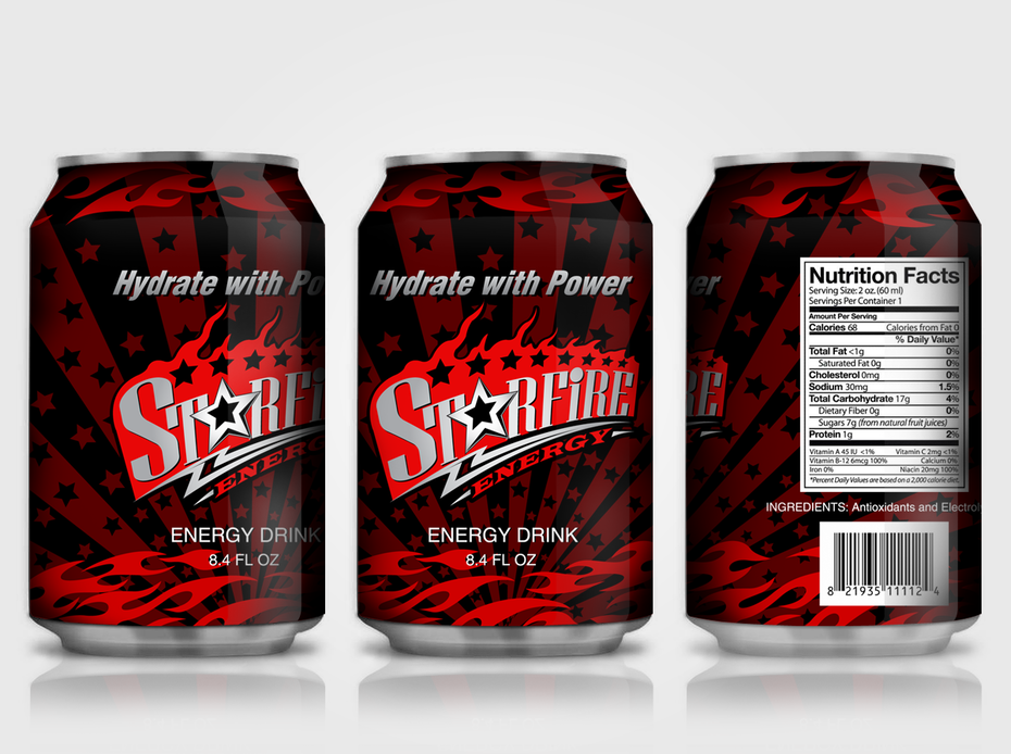 Star Fire energy cans