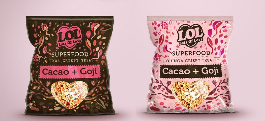 Pink snack packaging design