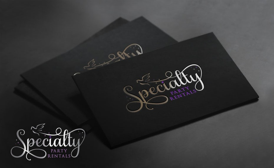 Specialty Party Rentals business cards