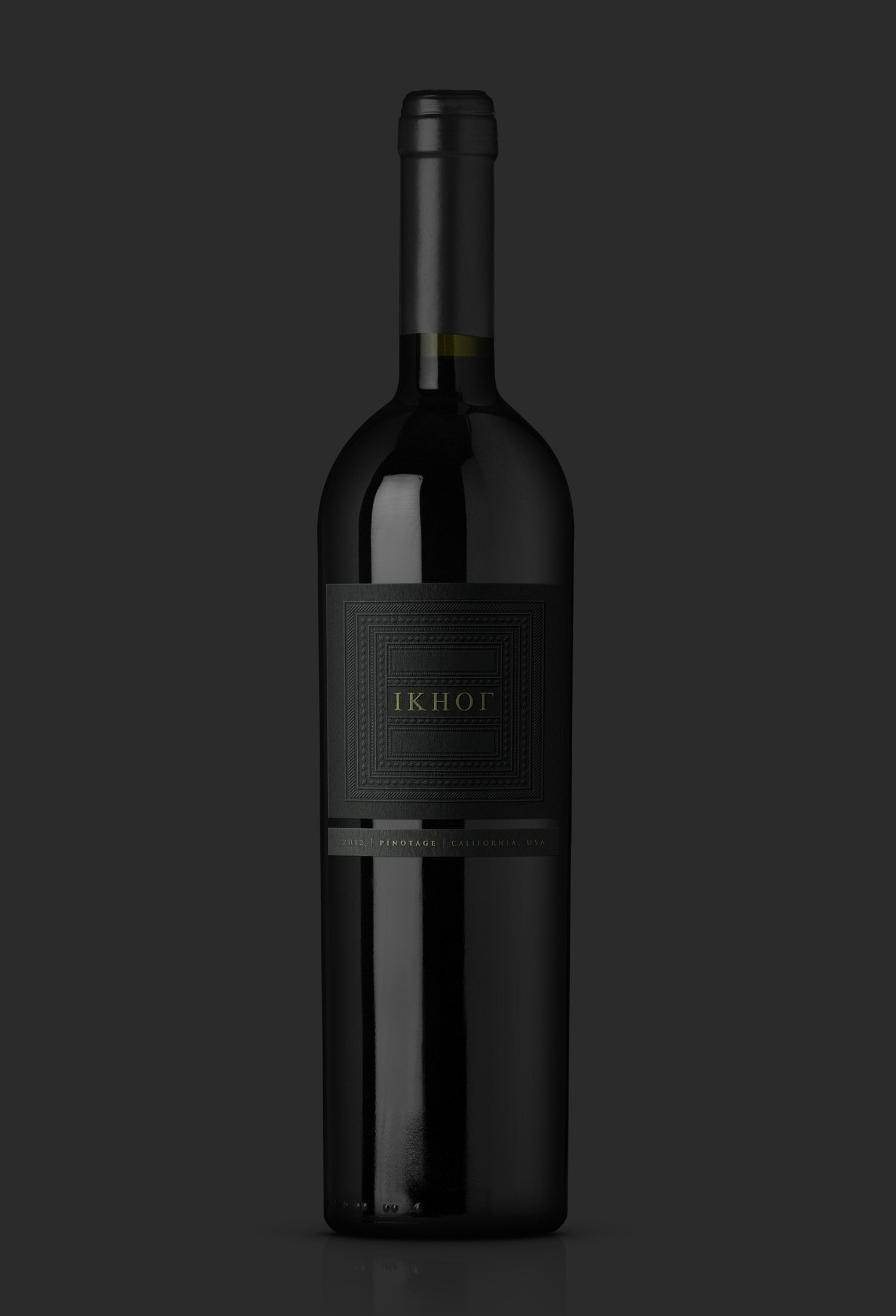 all-black wine label design