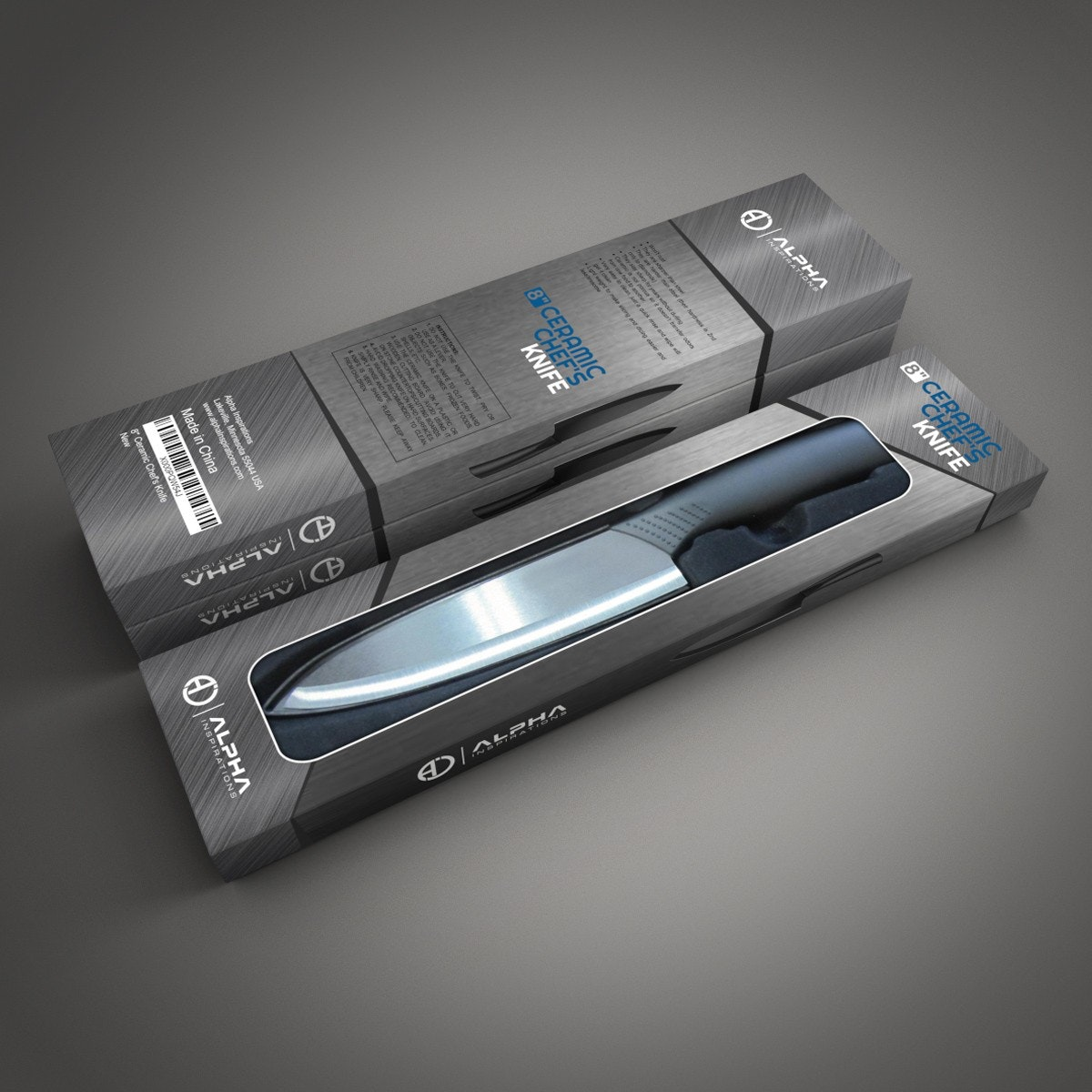 Alpha ceramic knife packaging