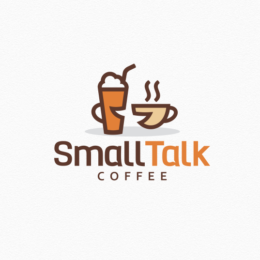 logo for small talk coffee