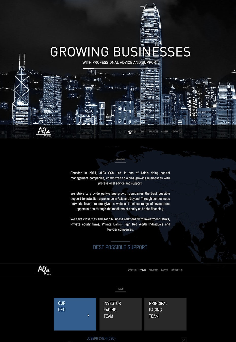 web page banner and background image design