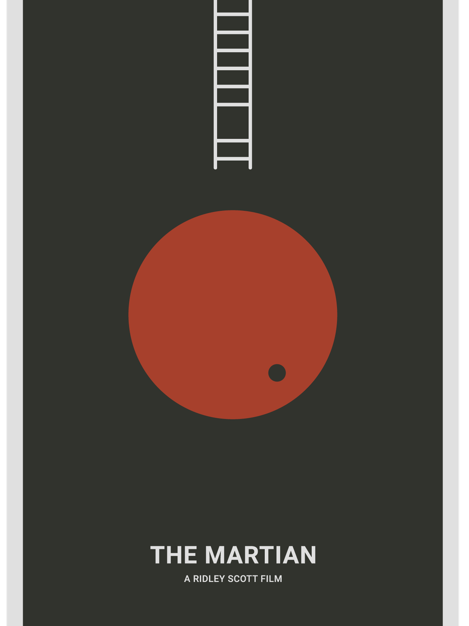 The Martian poster mockup