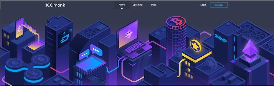 Web design for an ICO rating platform
