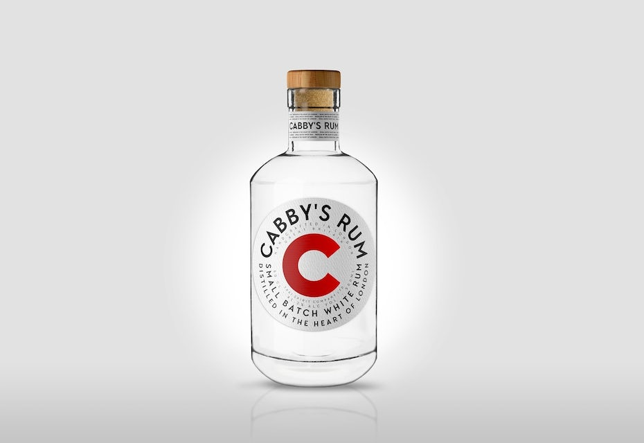 Cabby's rum bottle labe