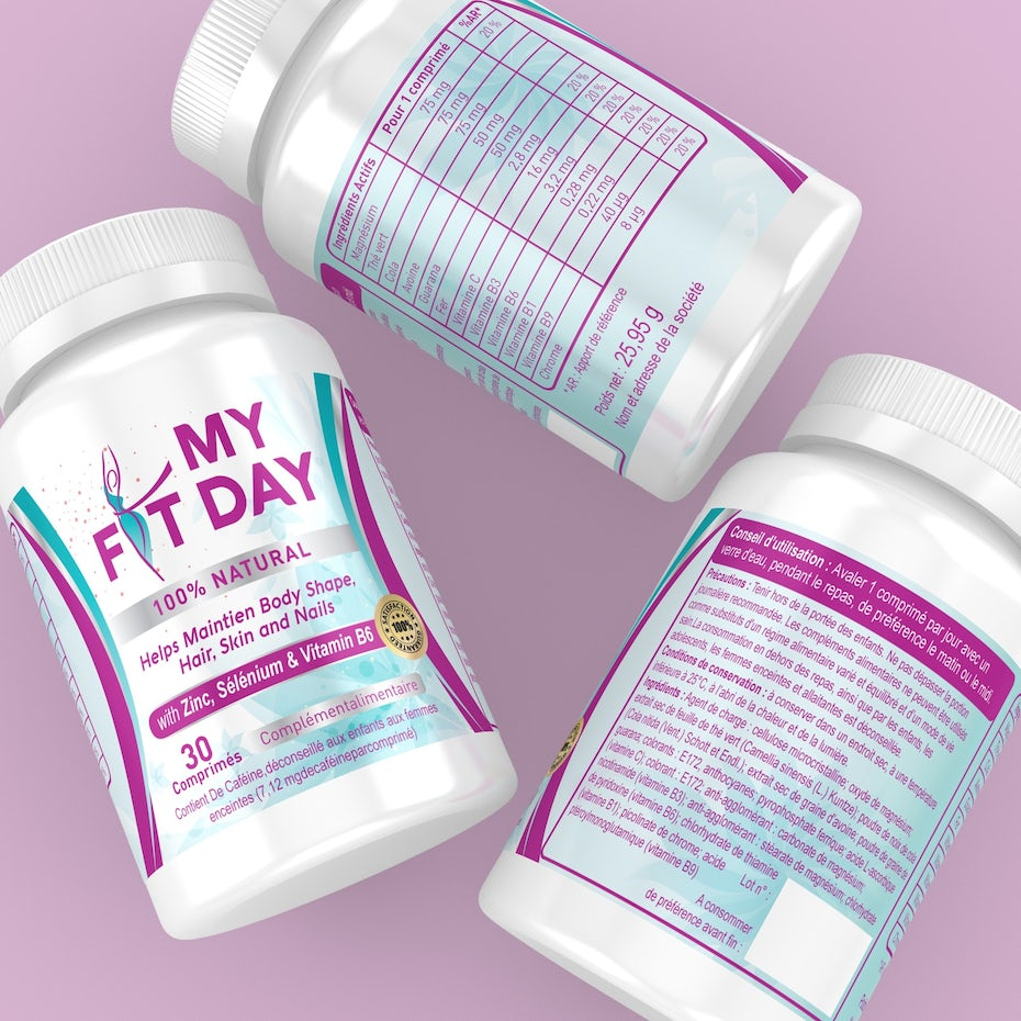 Slimming supplement packaging