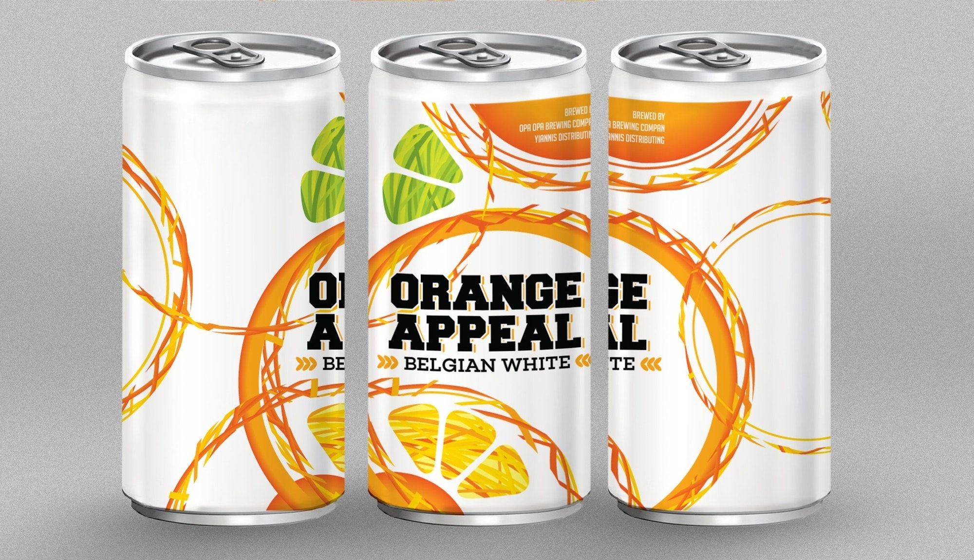 bright orange label design