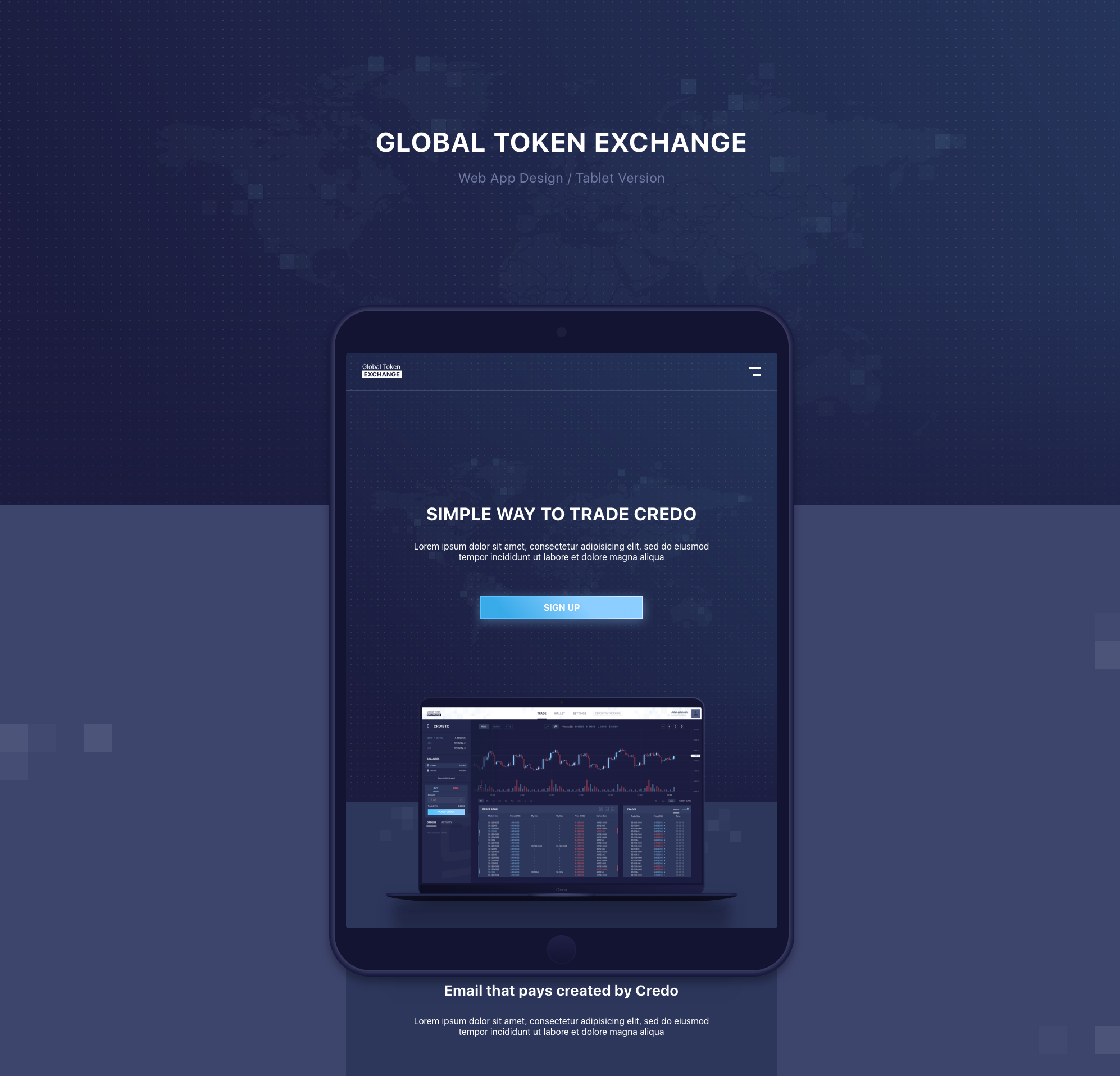 Web App for a Cryptocurrency exchange platform by RomaTesla.