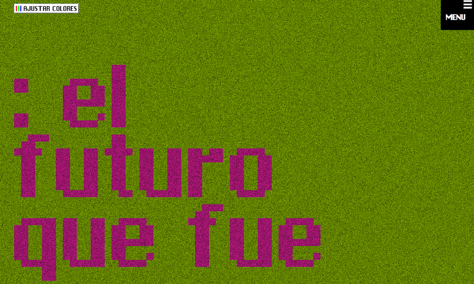 A true brutalist website design by El futuro que fue