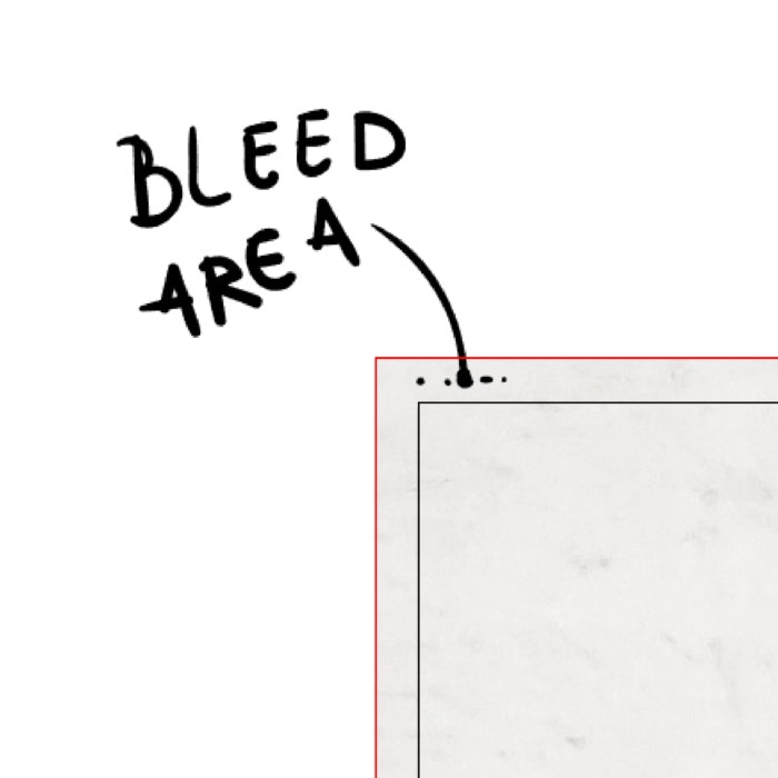 Illustrator bleed area