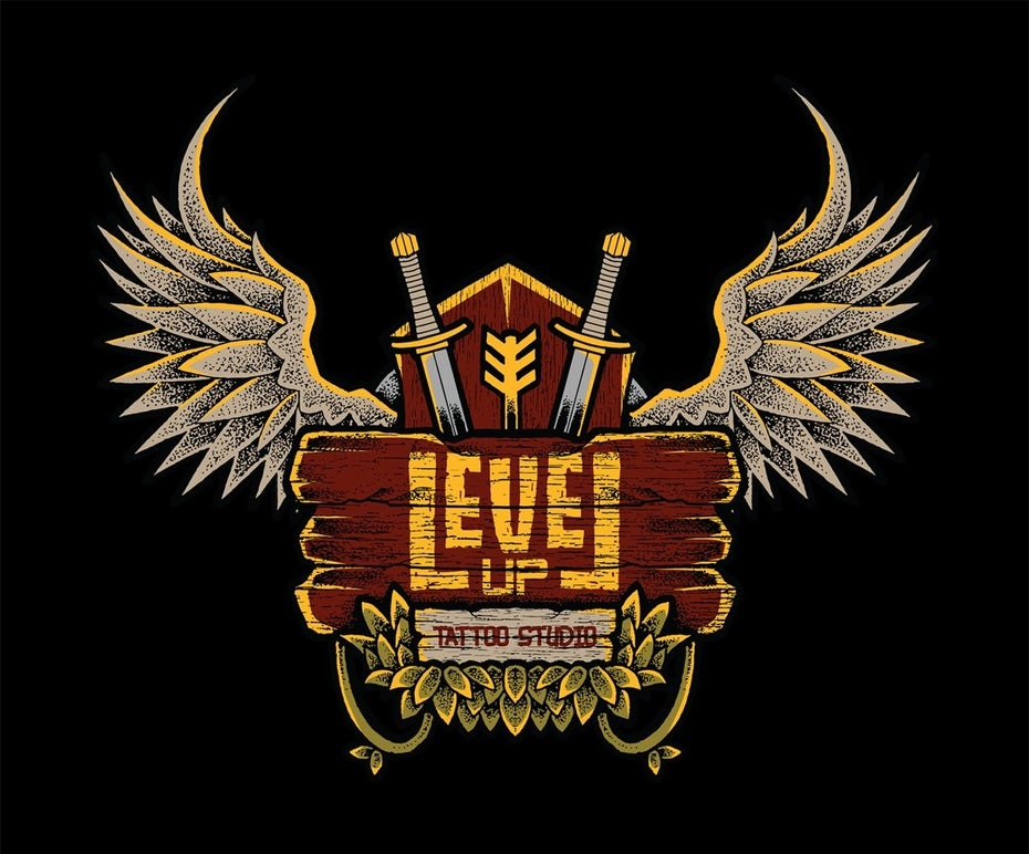 Level Up Tattoo Studio sticker
