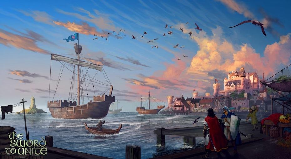 illustration for novel, The Sword to Unite