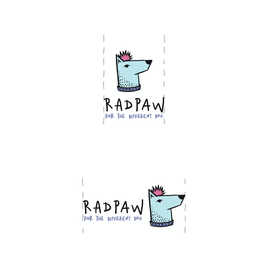 Minimum and maximum sizes for Radpaw logo