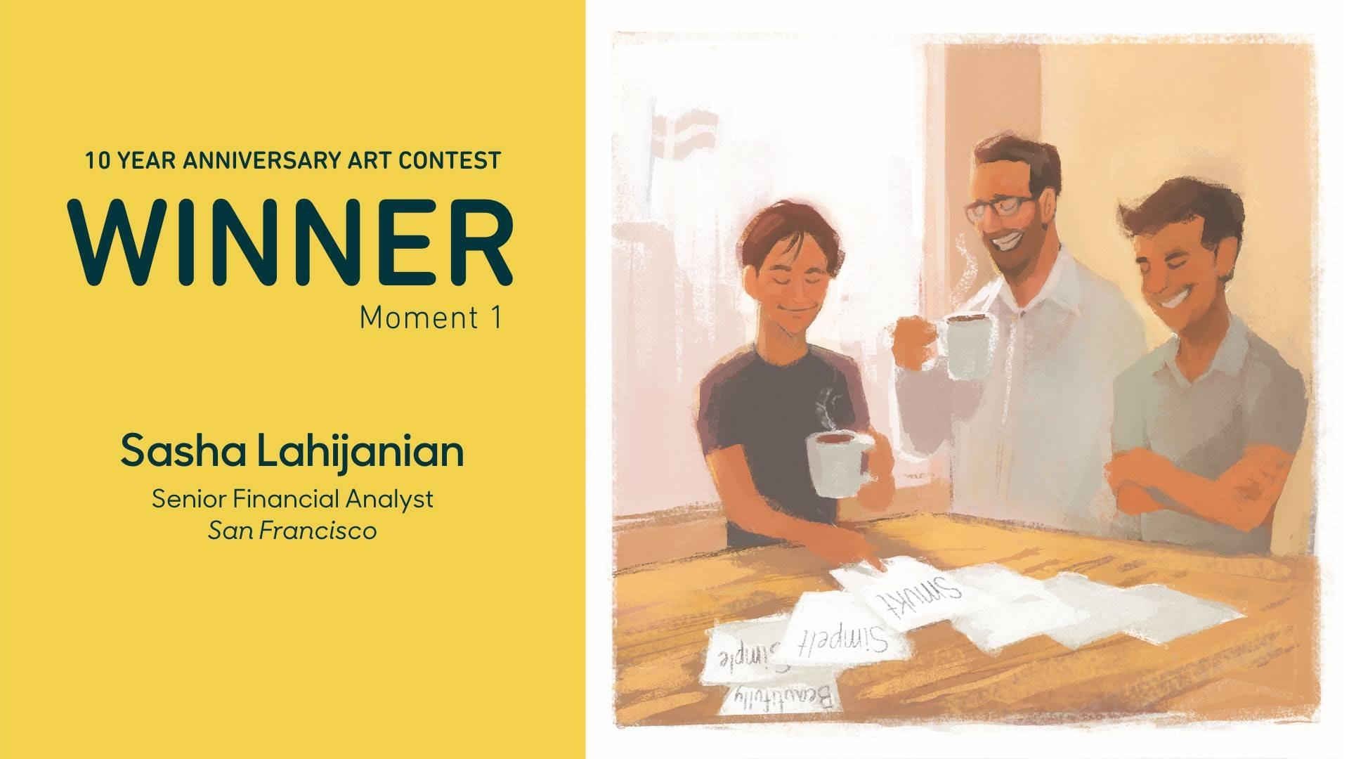 10 year anniversary art contest winning entry by Sasha Lahijanian