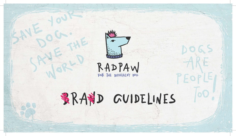 Radpaw brand guidelines image