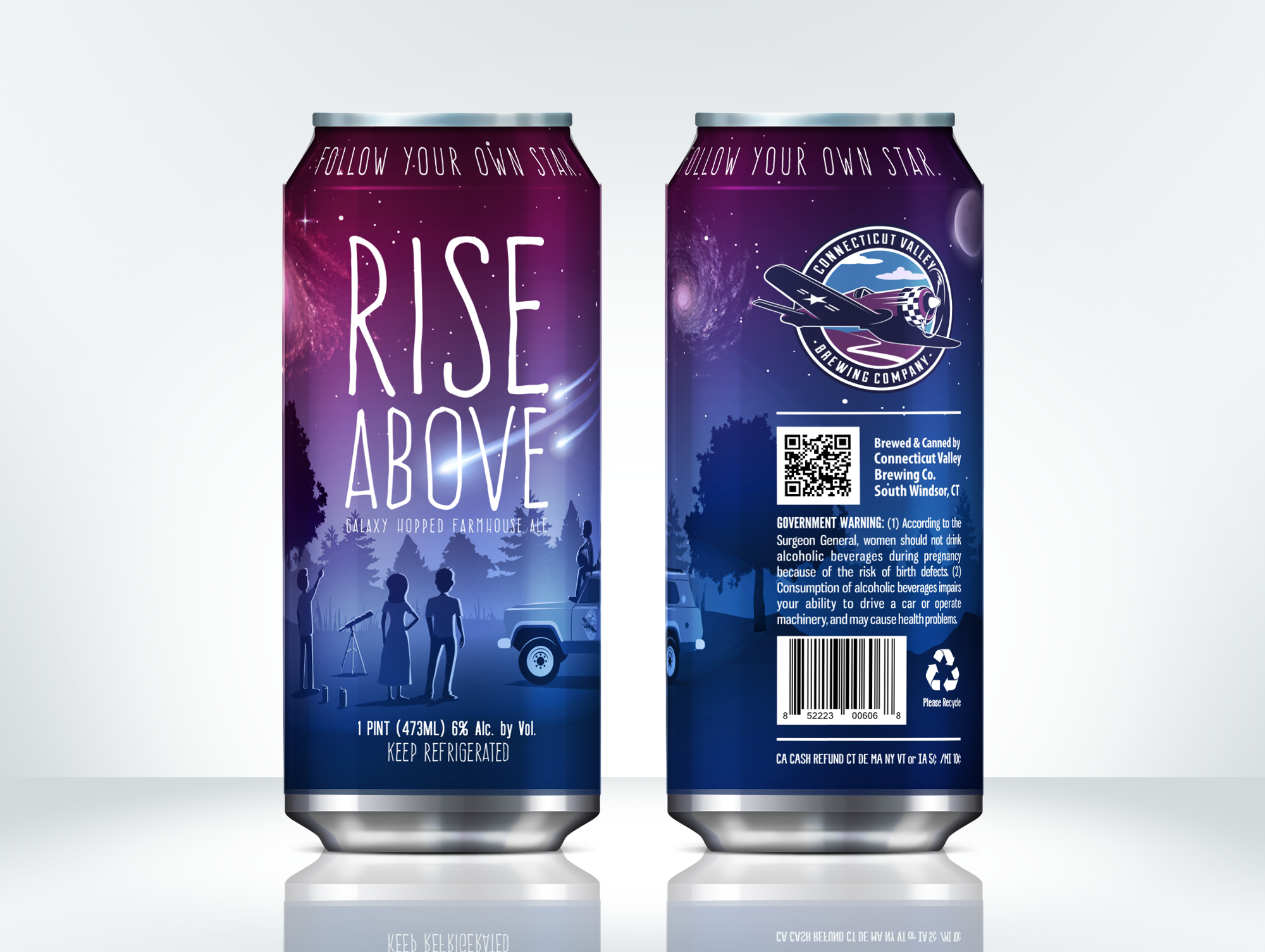 beer can design for the Connecticut Valley Brewing Company