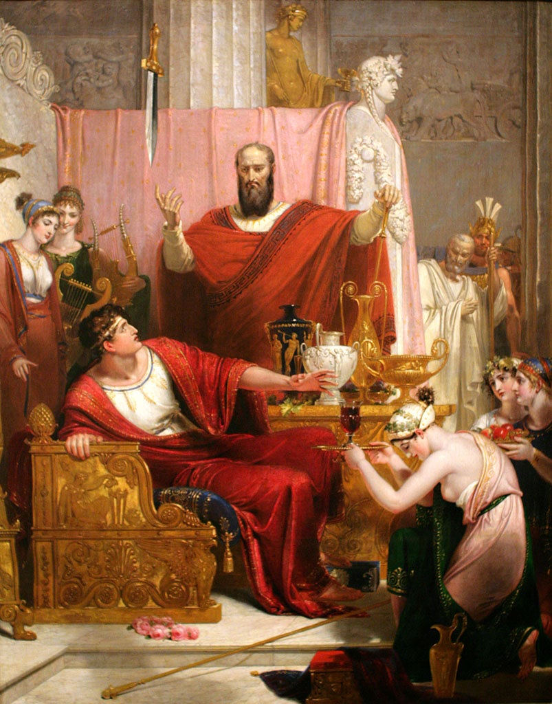 Sword of Damocles, Richard Westall. 1812.