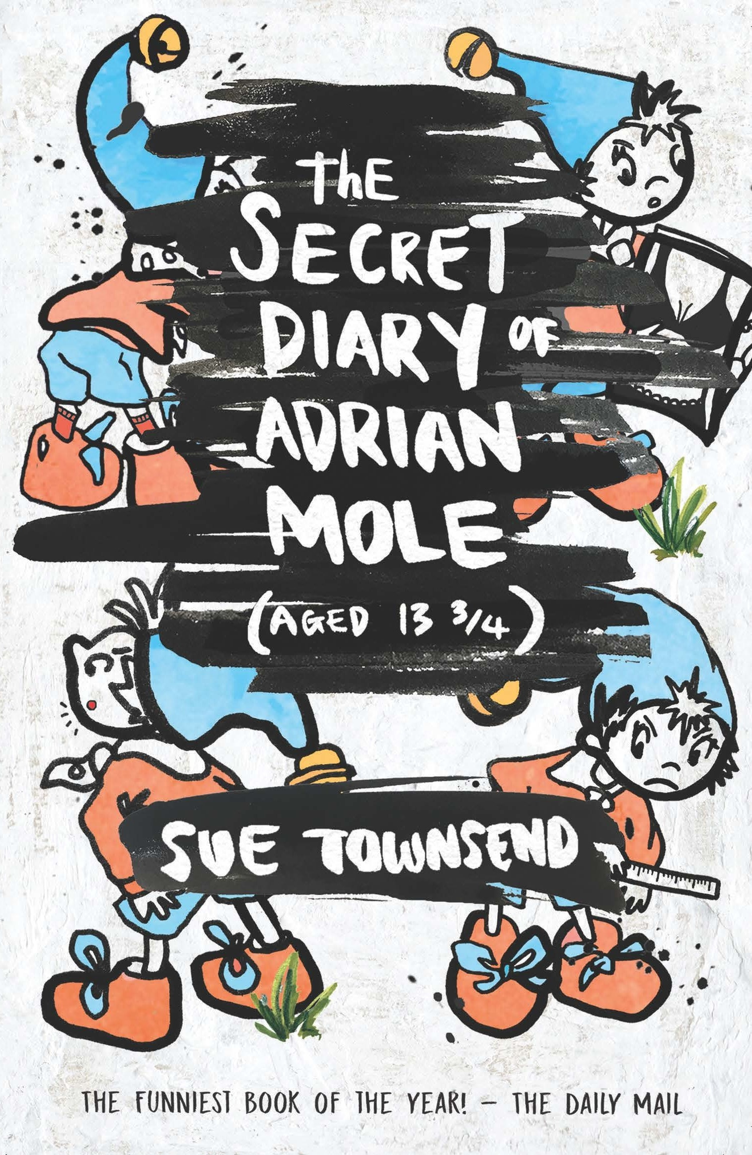 book cover design for The Secret Diary of Adrian Mole (aged 13 ¾) by Sue Townsend