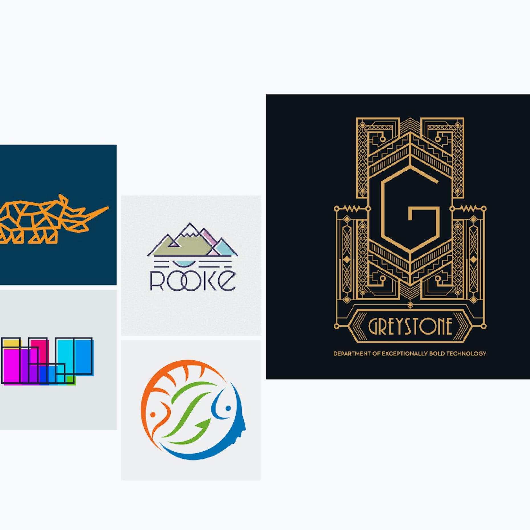 30 Geometric Logos That Measure Up 99designs