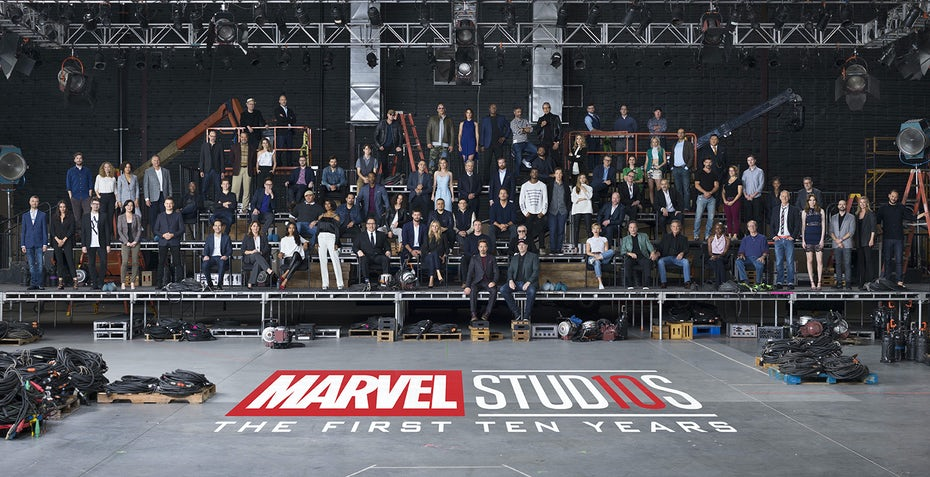 Marvel Cinematic Universe Group Anniversary Photo