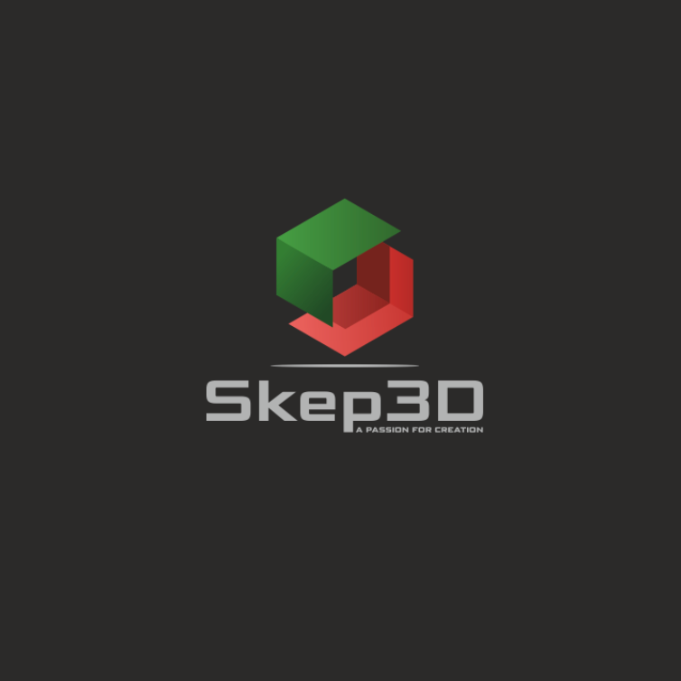 red and green 3D box with a shadow logo