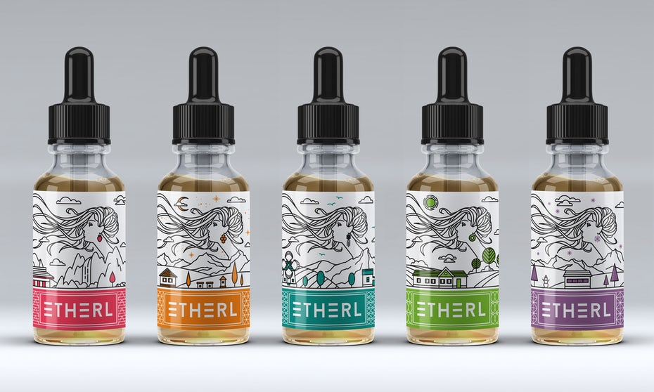 Vape liquid packaging design