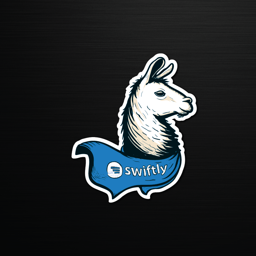 Swiftly llama sticker