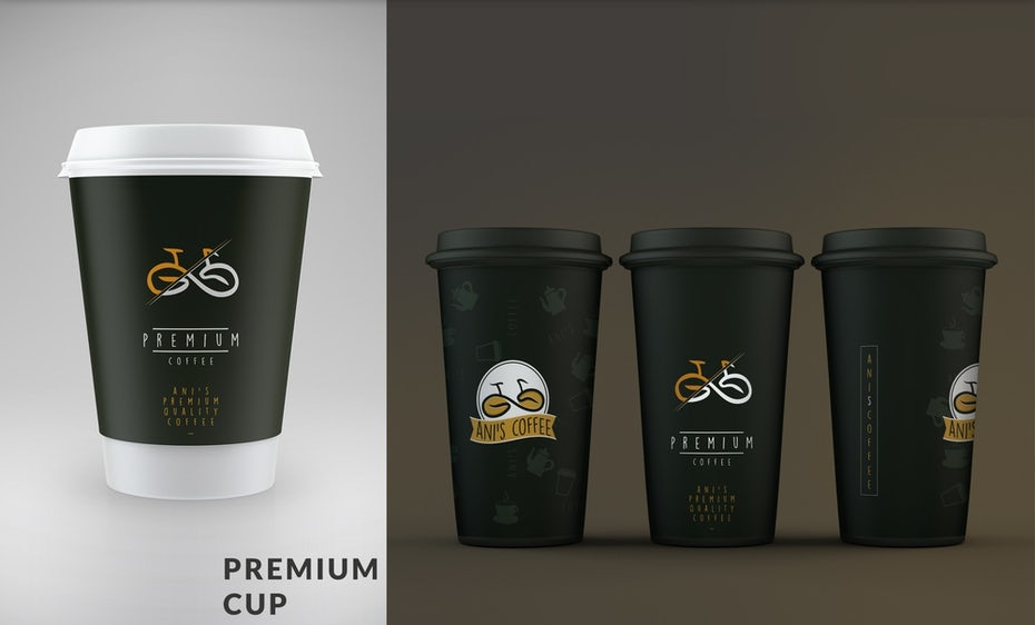 Ani's Coffee coffeecup design