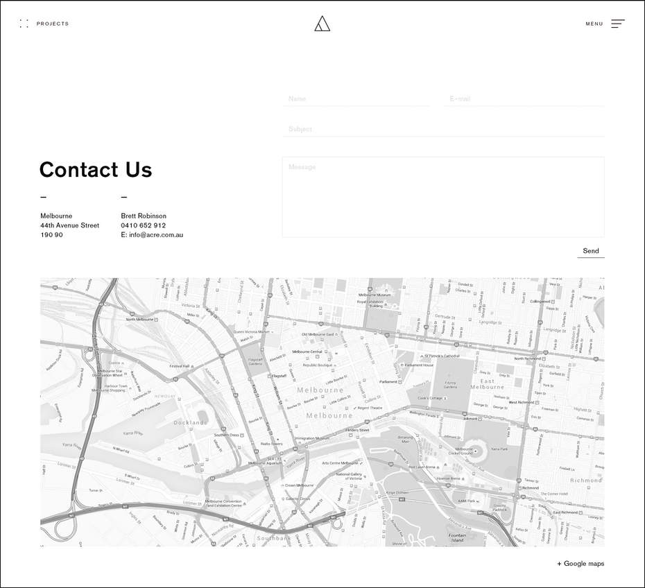minimalistic contact form