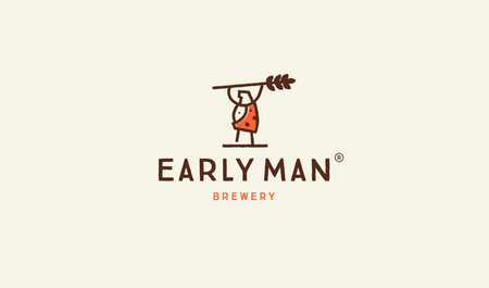 line art design for Early Man Brewery