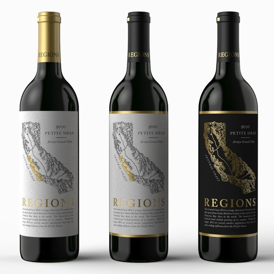 Petite sirah wine label design