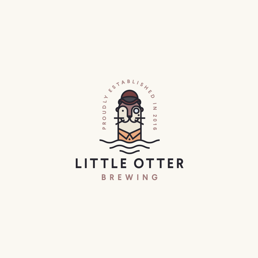 Little Otter Brewing company logo design