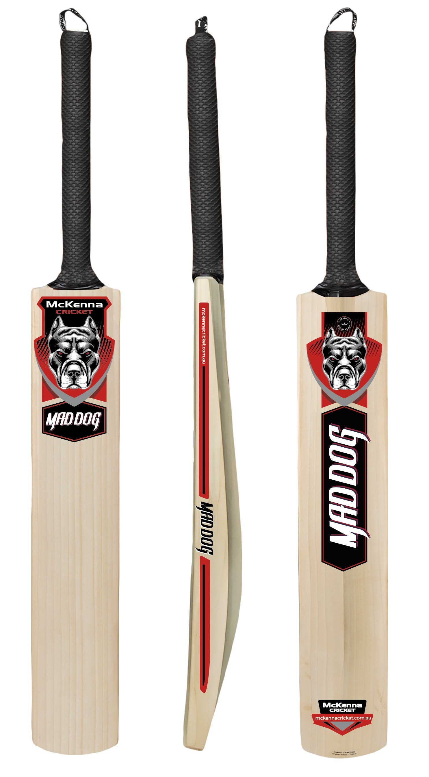 Mad Dog cricket bat stickers
